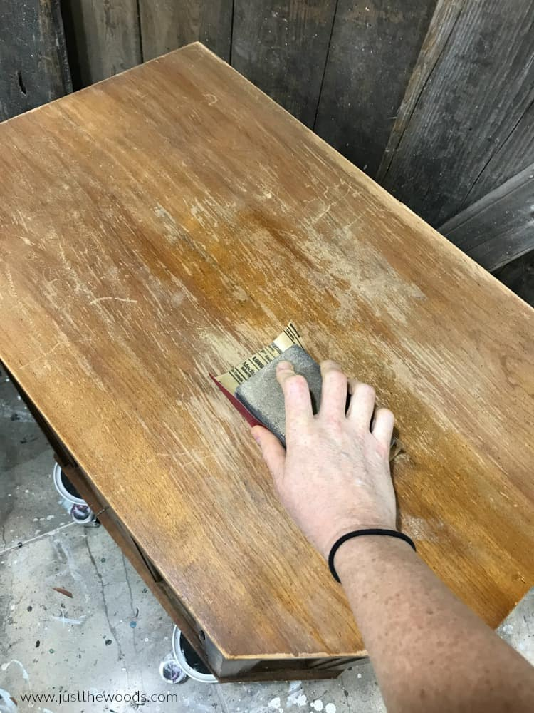 sanding wood furniture, prep furniture for paint
