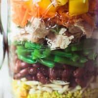 Healthy Layered Tuna Salad Jars