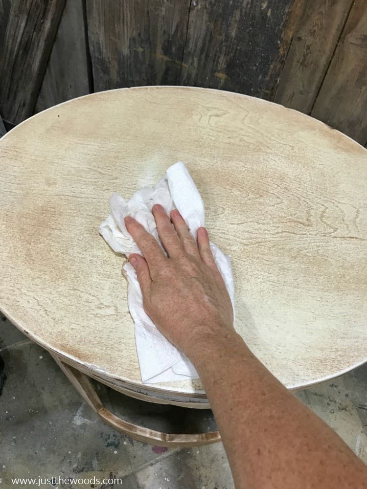 wipe down furniture with clean cloth