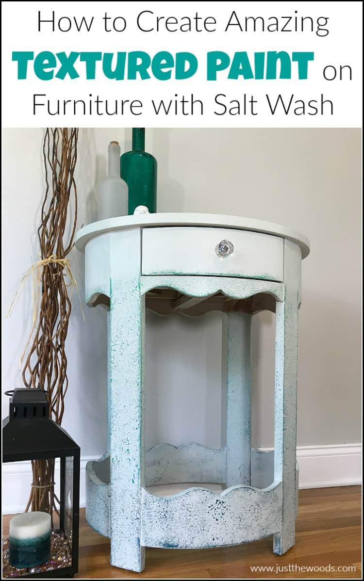 texture paint tutorial with wise owl chalk paint and saltwash