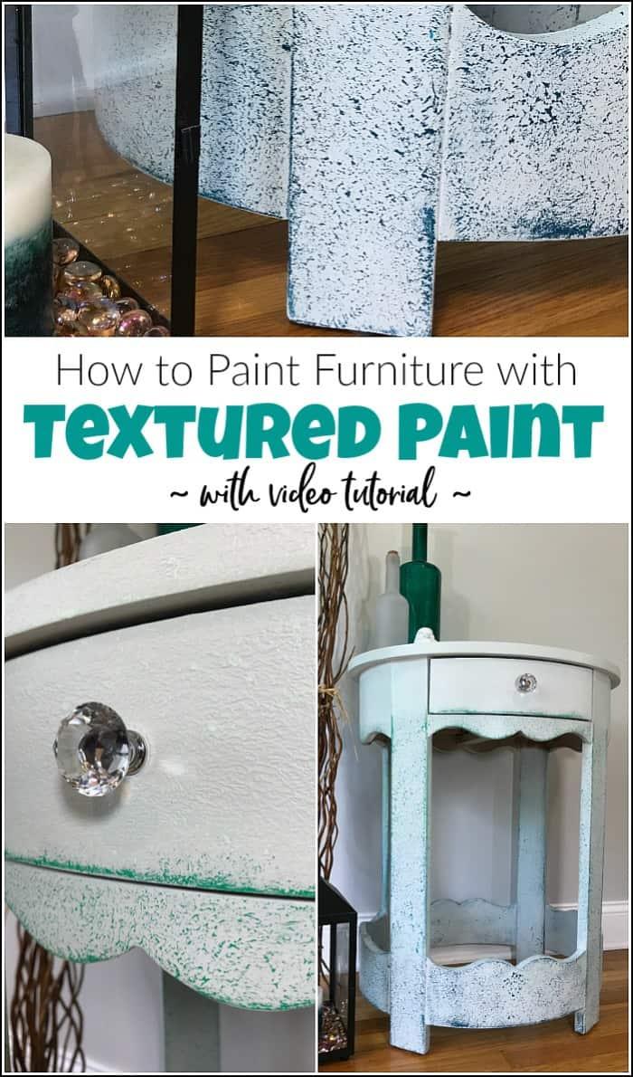 textured paint on chalk paint table