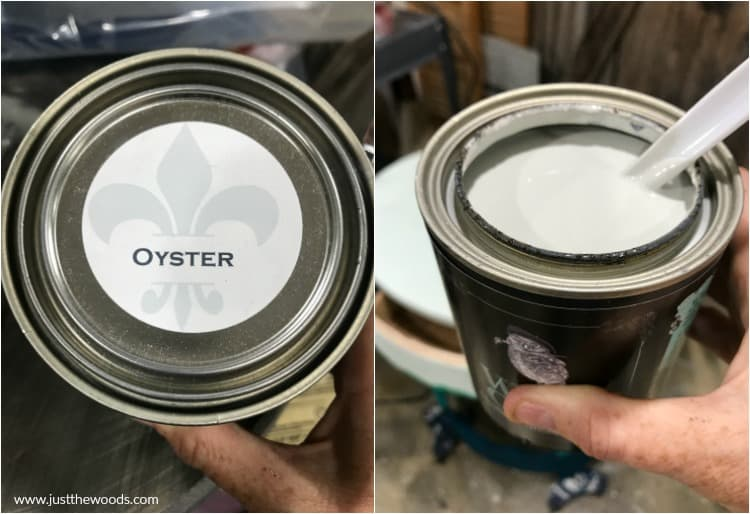 gray chalk paint, wise owl oyster, light gray paint