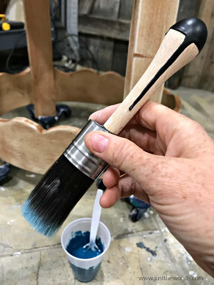 small Cling On brush, mini cling on, paintbrush, chalk paint brush
