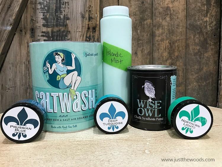 saltwash, wise owl paint, blue chalk paint