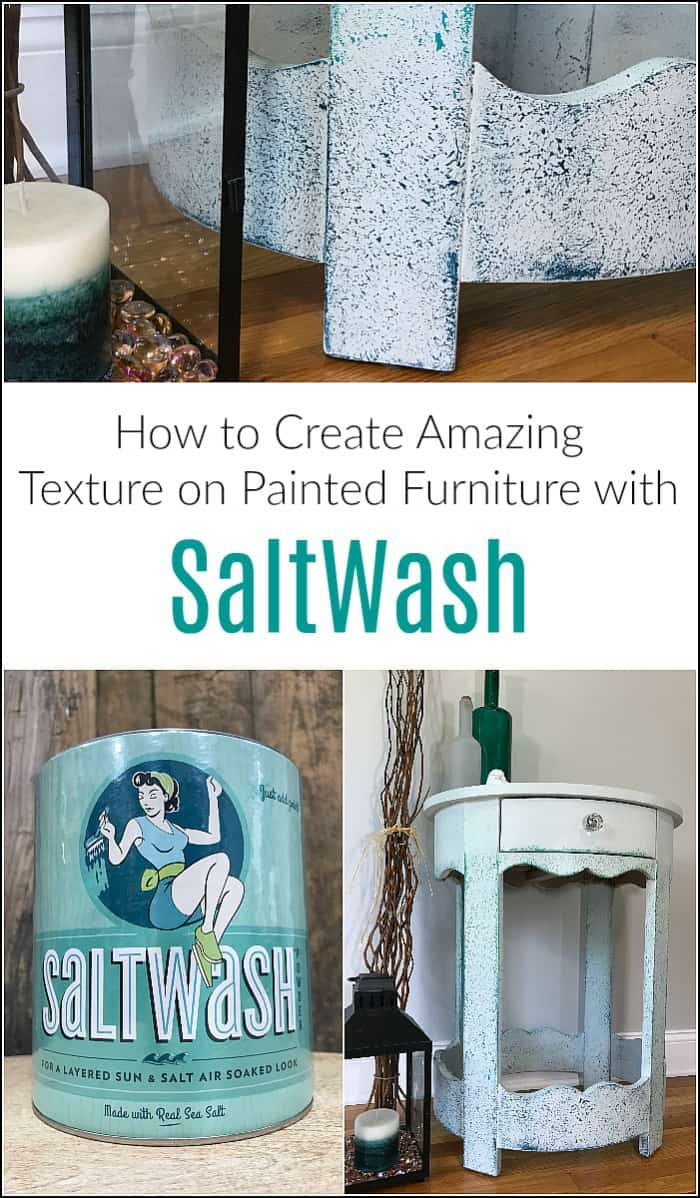 How To Create Amazing Textured Paint On Furniture With Salt Wash