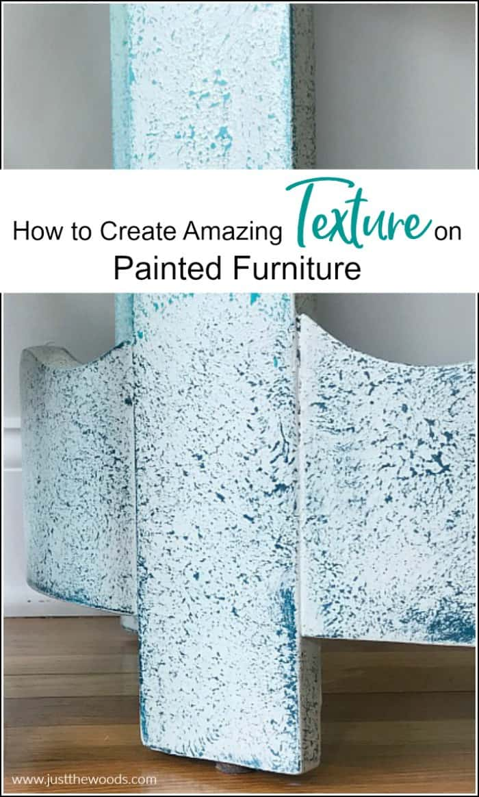 create texture on painted furniture