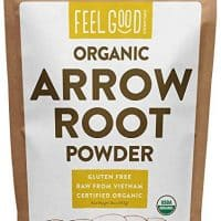 Organic Arrowroot Powder (Flour) - 1 Pound Resealable Bag (16oz) - 100% Raw From Vietnam - by Feel Good Organics