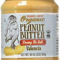 Trader Joe's Creamy No Salt Organic Peanut Butter 16 Oz. 2 Pack