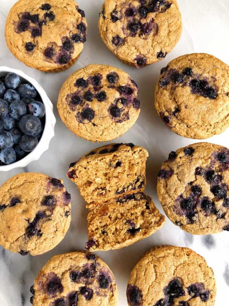 Gluten-free Bakery-Style Blueberry Muffins (egg-free + nut-free)