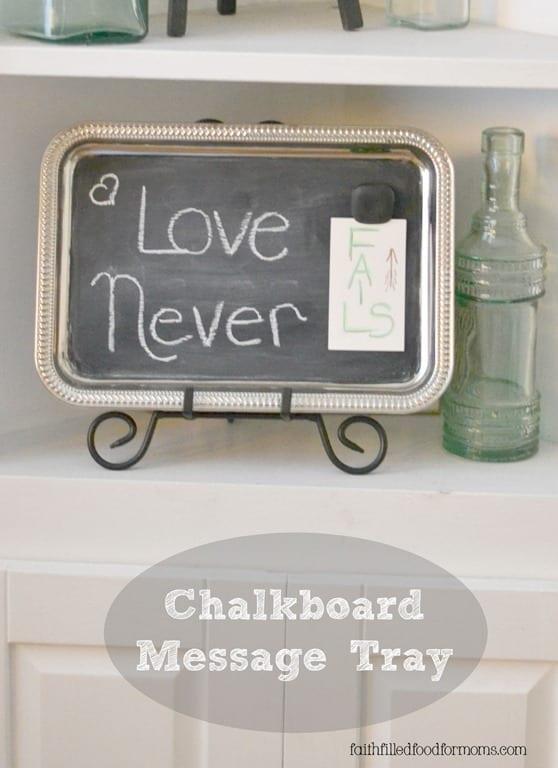 Chalkboard Message Tray