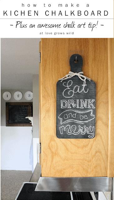 Easy DIY Kitchen Chalkboard