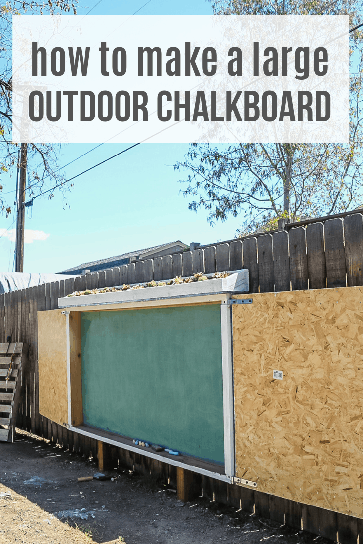 Large Chalkboard For Backyard With Live Roof
