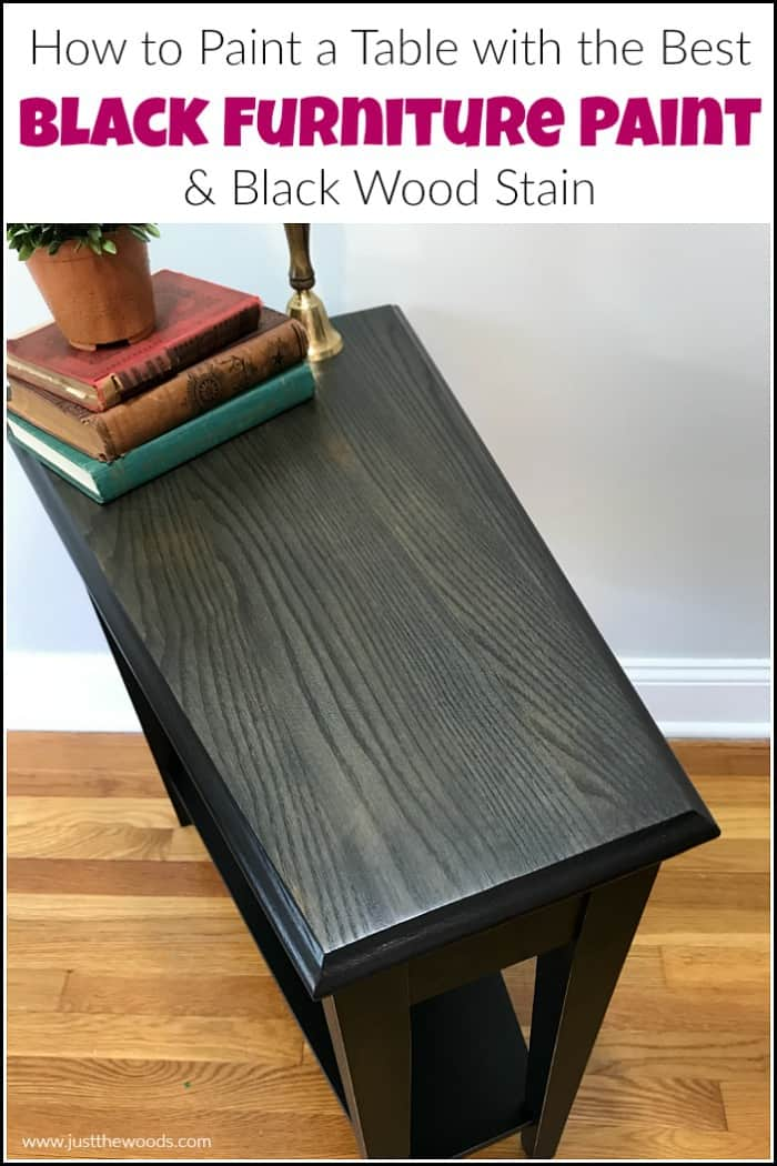 How To Paint A Table With The Best Black Furniture Paint Stain