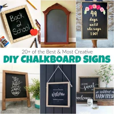 20+ of the Best and Most Creative DIY Chalkboard Signs
