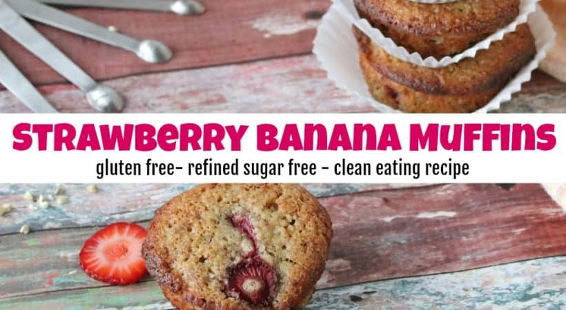 Delicious & Healthy Strawberry Banana Muffins