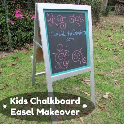 Kids Chalkboard Easel Makeover