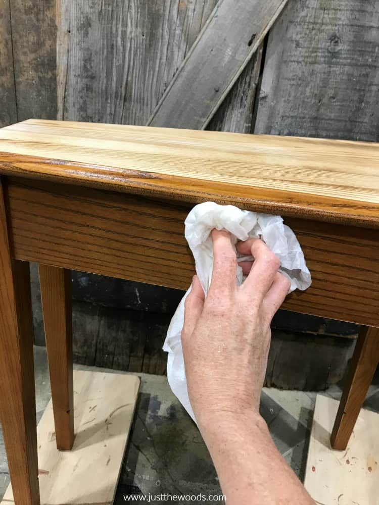 remove dust from wood furniture, wipe wood clean
