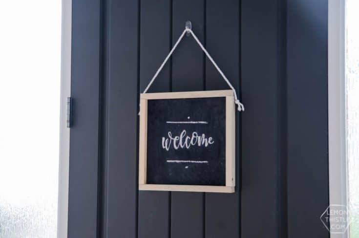 DIY Hanging Wooden Chalkboard