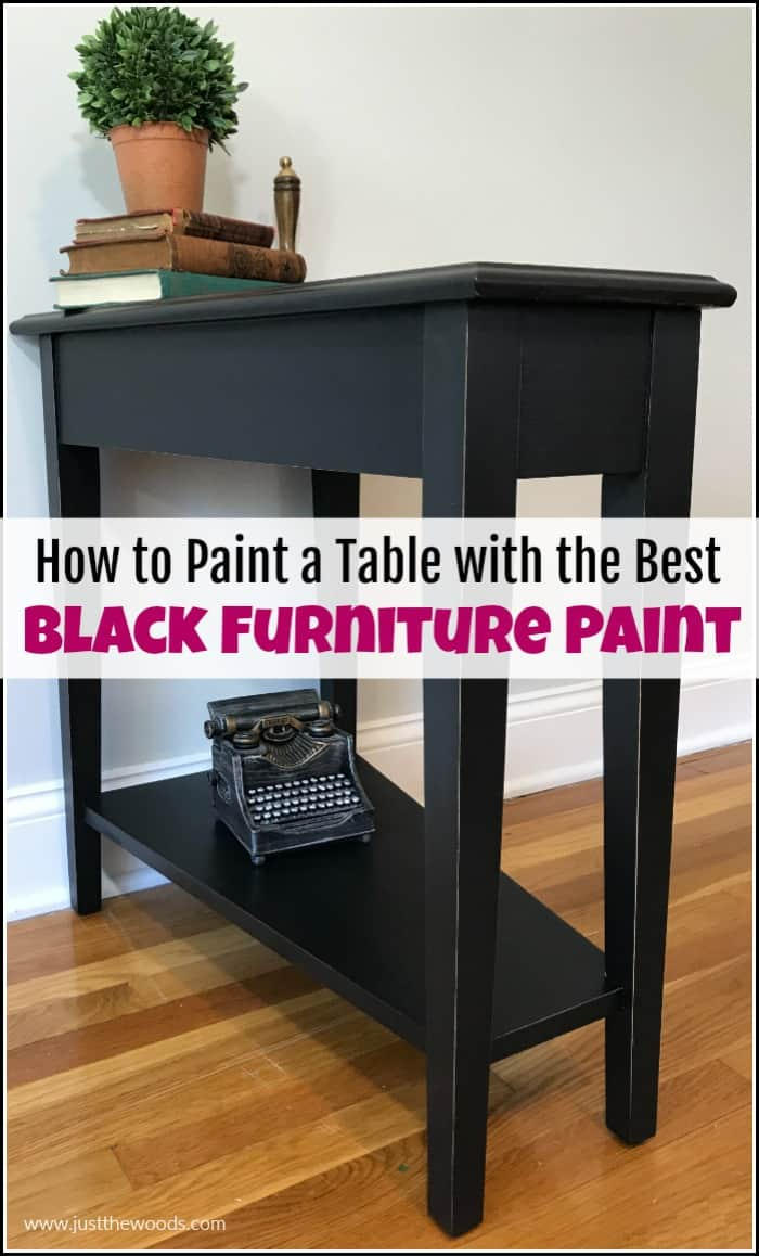 painted furniture diy, black painted furniture