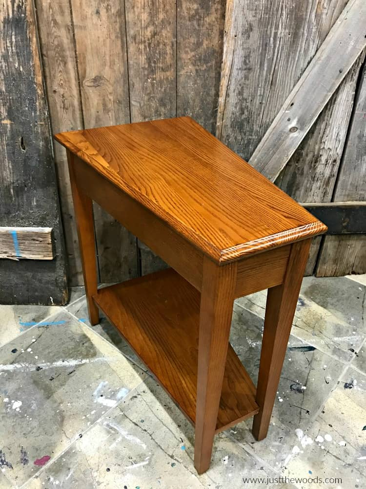brown wood small table