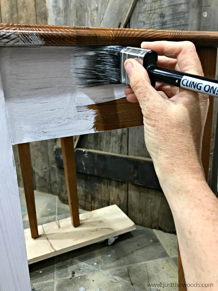 paint furniture with cling on brush