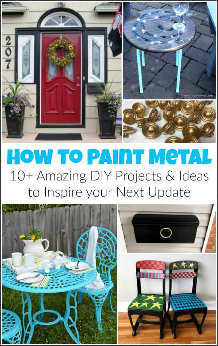 painted metal projects, how to paint metal tutorials