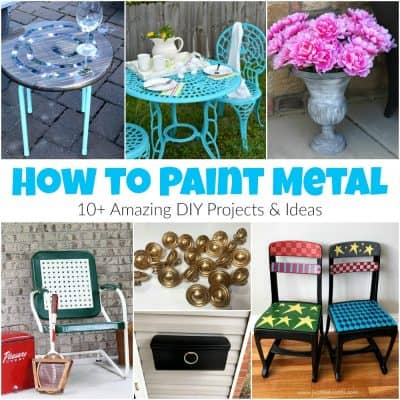 How to Paint Metal – 10+ Amazing DIY Projects & Ideas