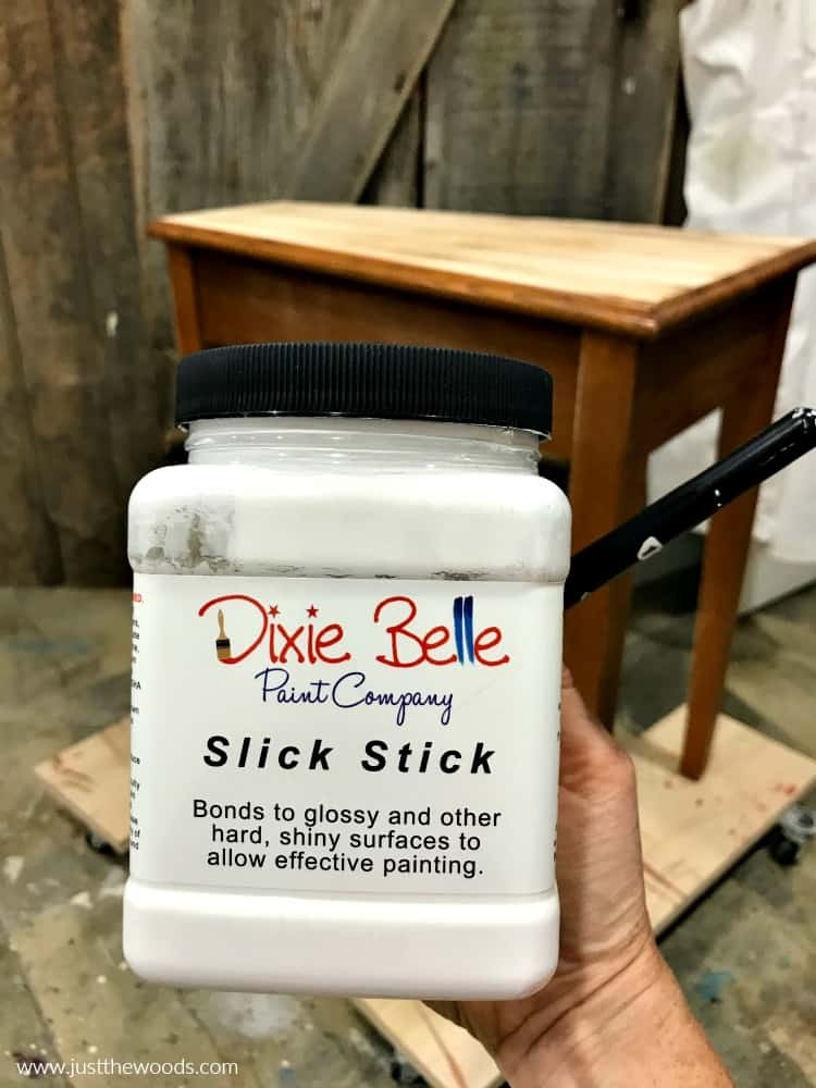 slick stick, dixie belle, how to paint slick surfaces, painting shiny furniture