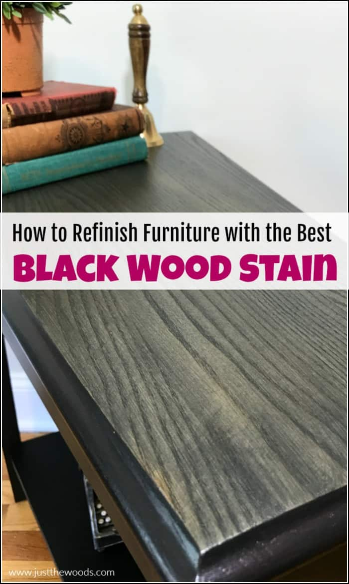 refinish furniture black wood stain