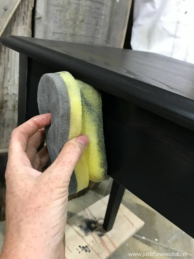 sealing painted furniture, seal black furniture paint, seal black distressed painted furniture