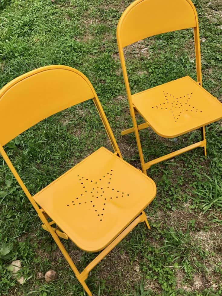 Vintage Metal Chairs Makeover