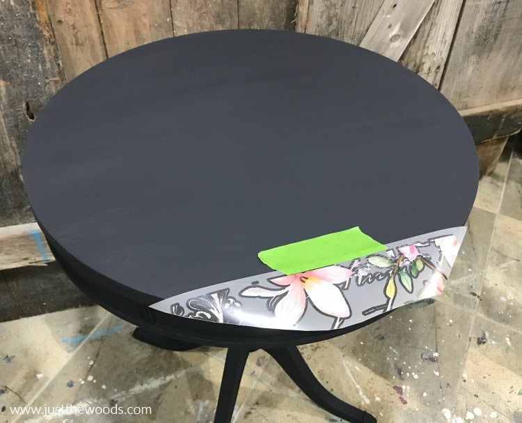how to apply rub on image transfer, how to rub images to painted furniture