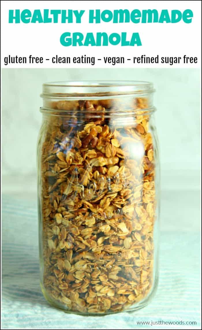 homemade granola recipe, gluten free granola recipe, crunchy granola recipe
