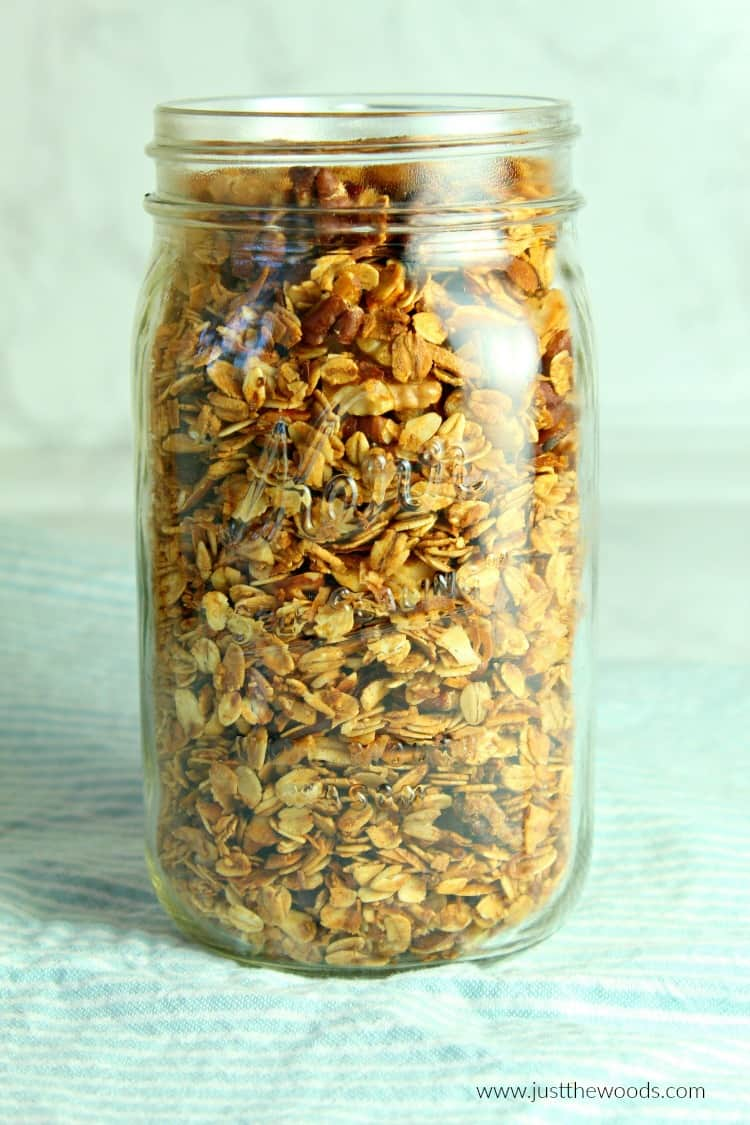 coconut almond maple homemade granola recipe