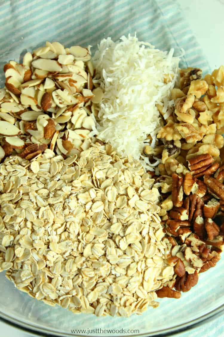 granola ingredients, homemade granola recipe, make granola