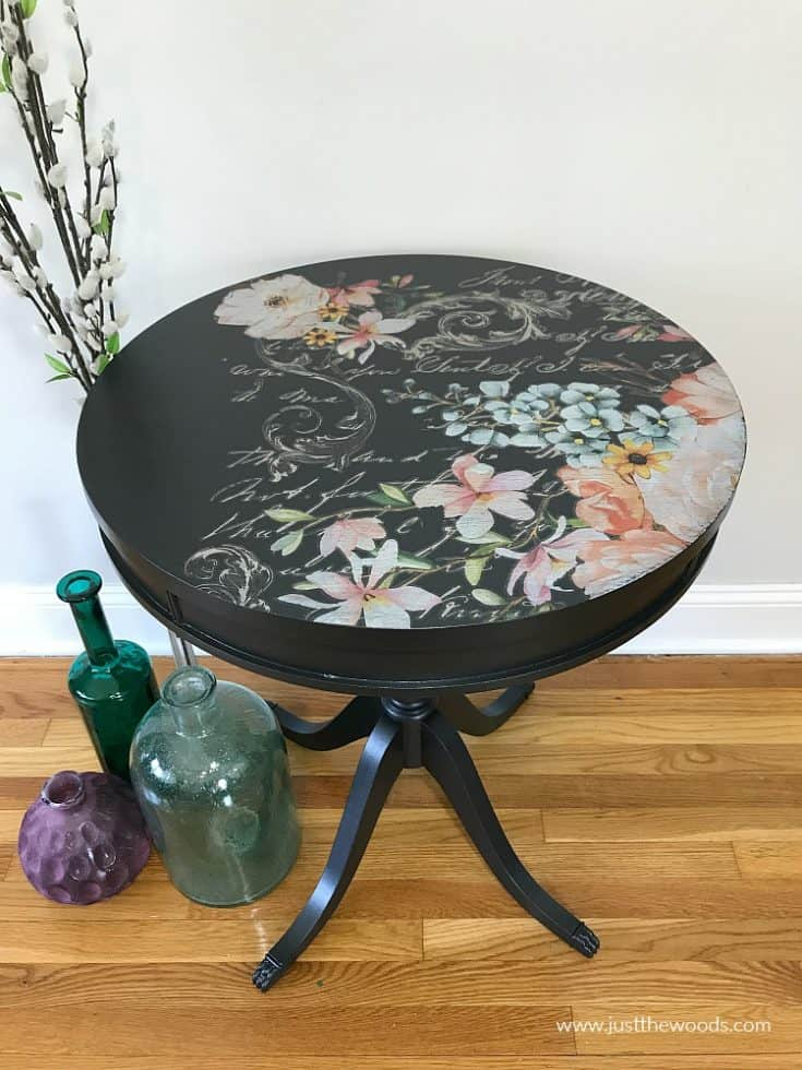 How to Refinish a Table with Metallic Paint and Fabulous Florals