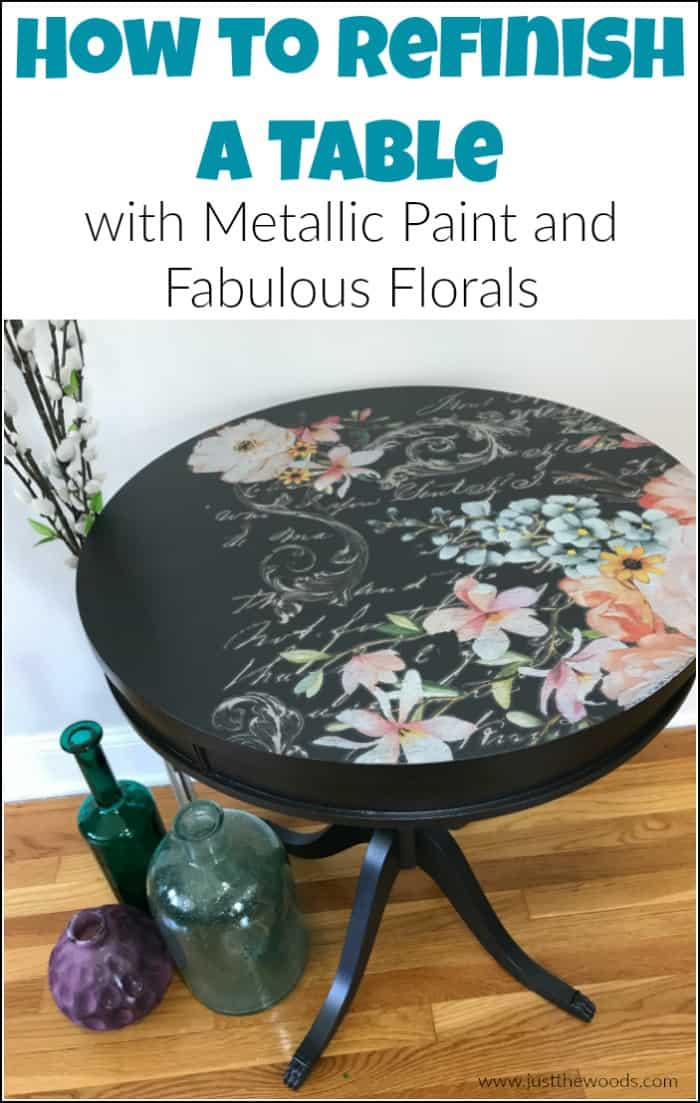 how to refinish furniture, painted table