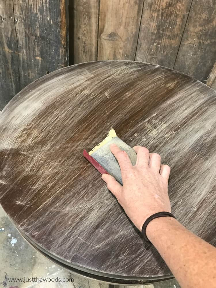 sanding wooden furniture, refinish a wood table