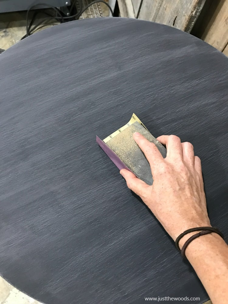 sand painted table top