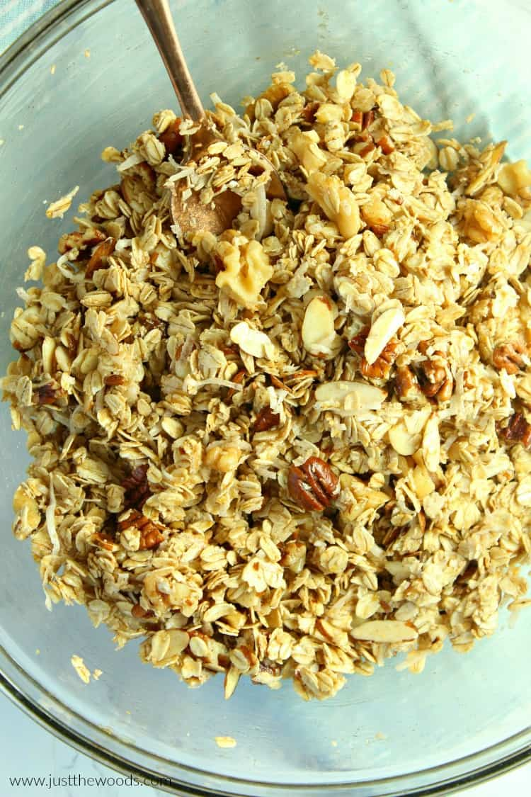 make your own granola, granola ingredients