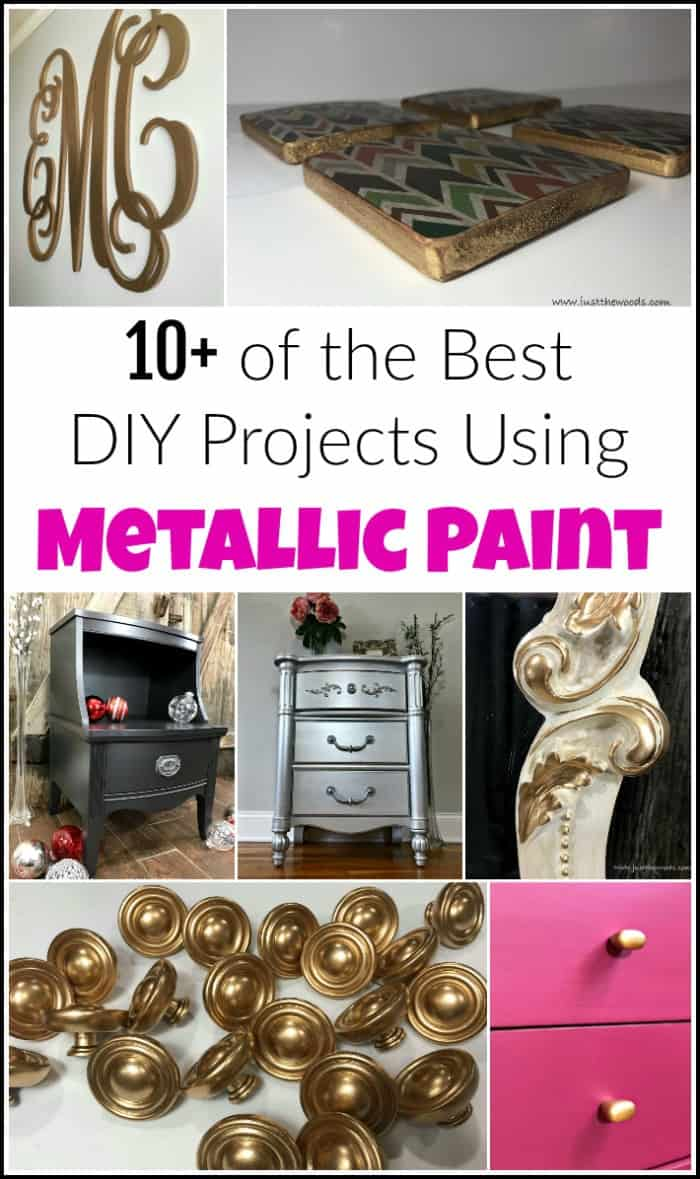 10+ of the Best DIY Projects Using Metallic Paint