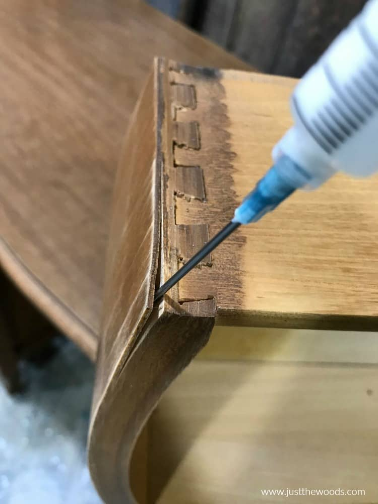 best way to glue veneer, how to glue tight spaces
