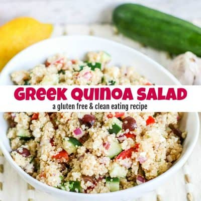 Greek Quinoa Salad for Clean Eating