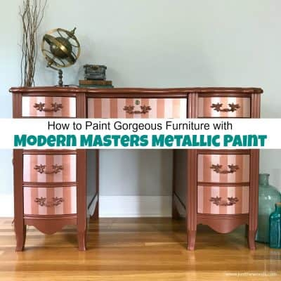 How to Paint Furniture with Modern Masters Metallic Paint