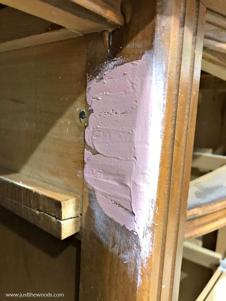 smooth out bondo on wood furniture
