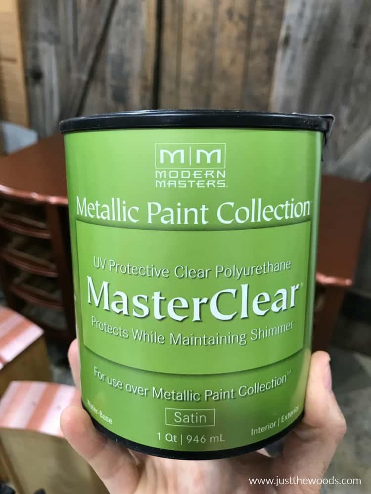 modern masters master clear, master clear, modern masters polyurethane, topcoat for metallic paint