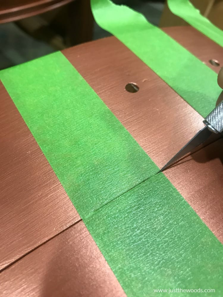 painting stripes on drawers
