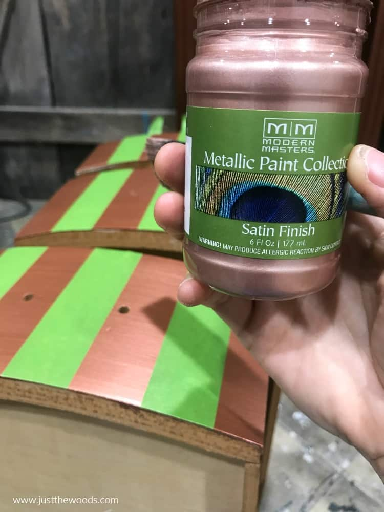 rose gold metallic paint, rose gold, gold paint colors, metallic pink paint