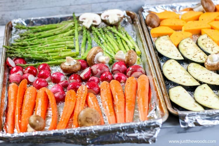 pan roasted vegetables, how to roast vegetables in the oven