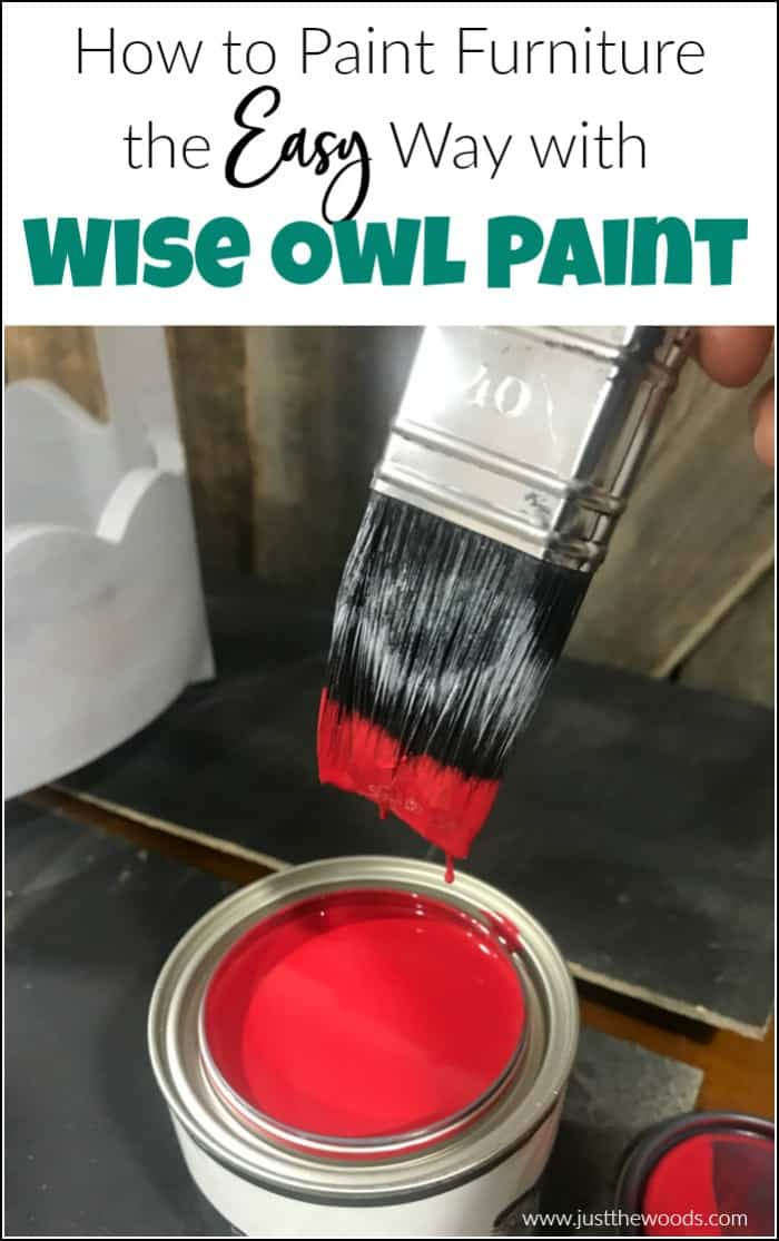 See how to paint furniture the easy way with Wise Owl Paint. The one-hour enamel paint is such an easy furniture paint to work with, it requires no topcoat and cures in an hour. #wiseowlpaint #paintedfurniture #furniturepaint #wiseowlenamelpaint